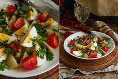 Картофельный салат с яйцами и зеленью - HAPPYFOOD