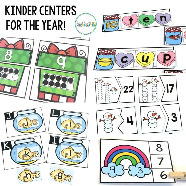 Kindergarten Centers For The Year  Literacy And Math