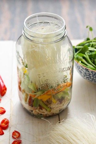 I am already obsessed with this recipe! >> Mason Jar Instant Noodles from The Girls on Bloor