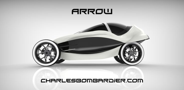 The Arrow, Electric Concept Vehicle, electric car design, Charles Bombardier…