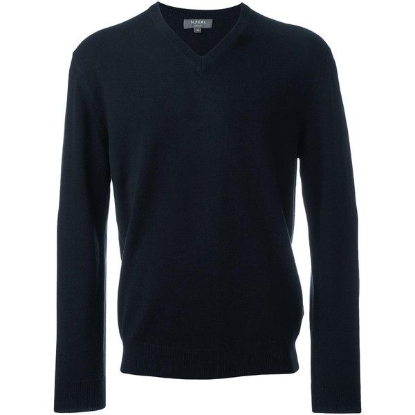 N.Peal 'The Burlington' V Neck jumper (1.105 BRL) ❤ liked on Polyvore featuring men's fashion, men's clothing, men's sweaters, blue, mens cashmere sweaters, mens v-neck cashmere sweaters, mens vneck sweater, mens v neck sweater and mens cashmere v neck sweater