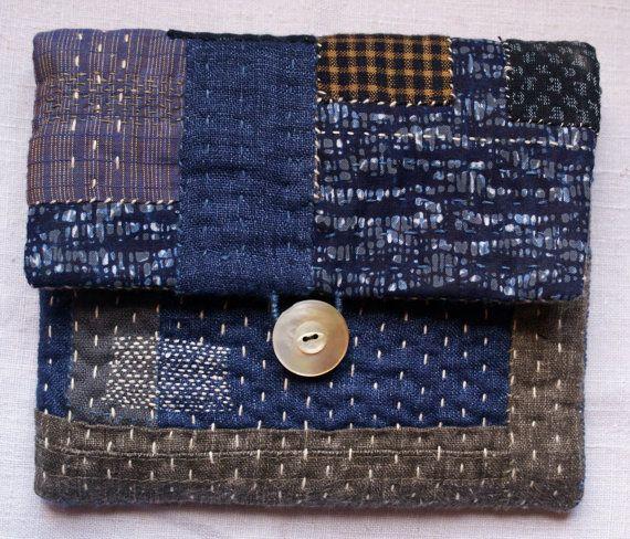 Hacienda: bolsa lin y japonés de algodón en el añil por lesamovar                                                                                                                                                                                 Más