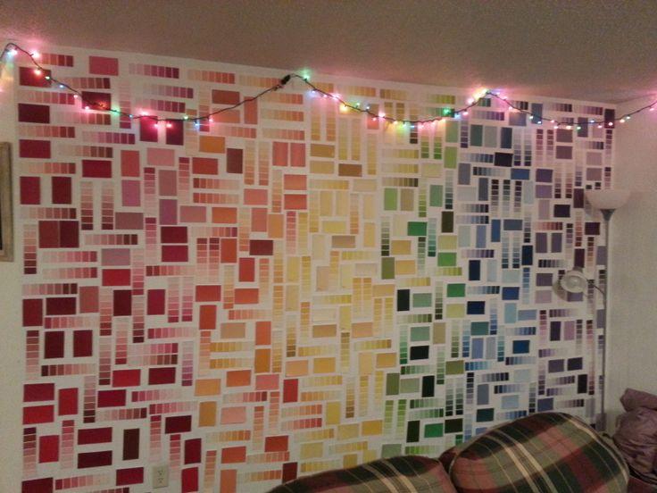 25 Unique Paint Sample Wall Ideas On Pinterest Paint Chip Wall Paint Samples And Paint Chip Art