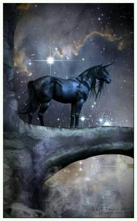 Gods Goddesses Legends Myths:  Black #unicorn.