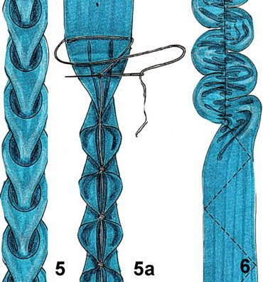 Ribbonwork how-to: ОБОРКА В ВИДЕ СЕРДЕЧЕК #freeribbonembroidery