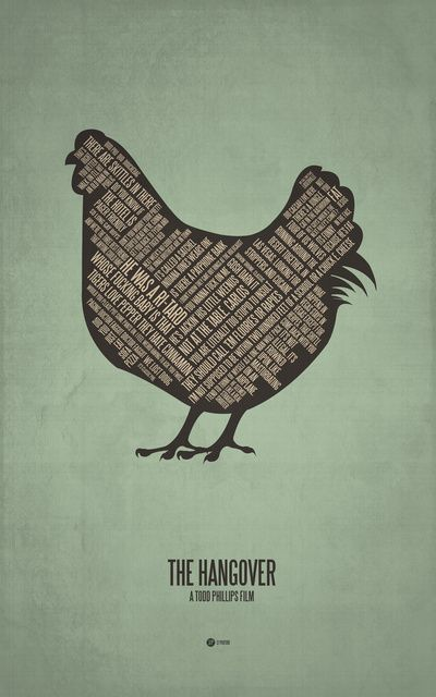 The Hangover (2009) ~ Movie Quotes Poster by Jerod Gibson #amusementphile