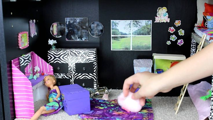 Custom Barbie House Tour with Homemade Toys