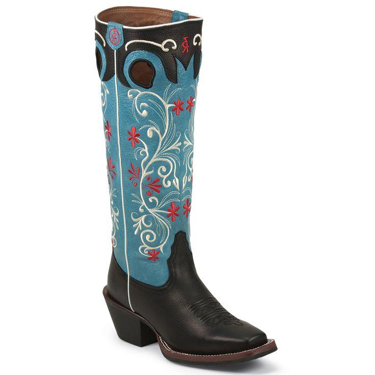 "Tony Lama Women's 3R 15"" Floral Buckaroo Boots"