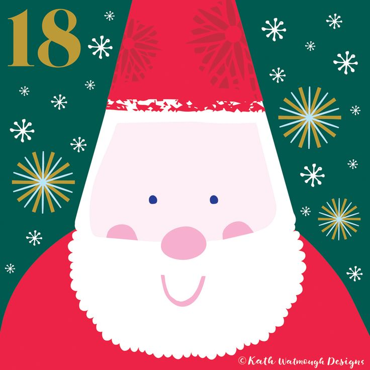 Day 18. Ooh it's not long now...1 week till Christmas day.   #makeitindesign #fatherchristmas #santa #advent #adventcalendar #adventcalendarart #adventcalendar2017 #adventchallenge2017 #illustration #christmascountdown #christmascalendar #christmas #freelance #freelancedesigner #christmas2017 #kathwatmoughdesigns www.instagram.com/kathwatmough