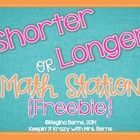Are you working on shorter or longer with your students? This is a great math station to practice this skill. You can use Cuisenaire rods if you ha...