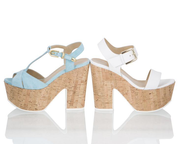 Vicini Chunky cork heel and platform sandals #ViciniShoes #GiuseppeZanotti #Sandals
