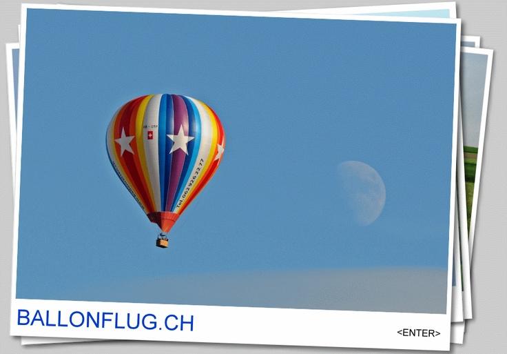 Ballonfahrt oder Ballonflug mit dem Heissluft Ballon in der Schweiz