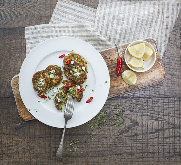 Courgette, Mint & Feta Fritters A lazy summer brunch beckons. And here's the star attraction. Make this recipe. 22 minutes, serves 4.