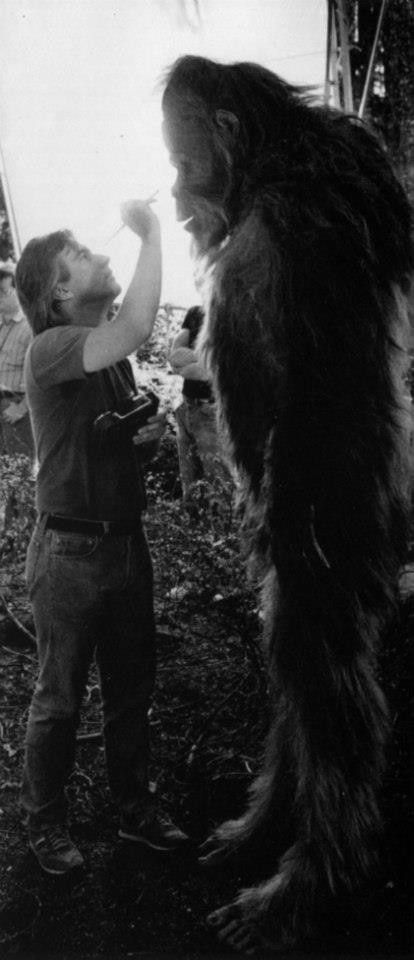 So... he wasn't real after al. On the set of Harry and the Hendersons