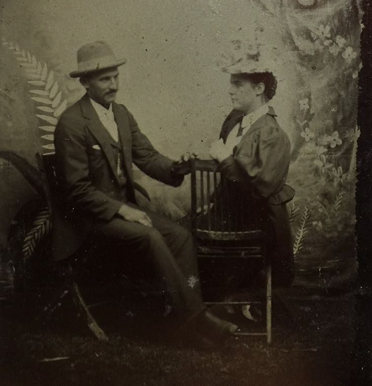 Virgil and Allie Earp appearing here on a sixth plate tintype from the collection of P.W. Butler.