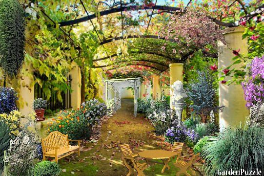 italian courtyard designs italian courtyard gardenpuzzle online garden planning tool my garden pinterest