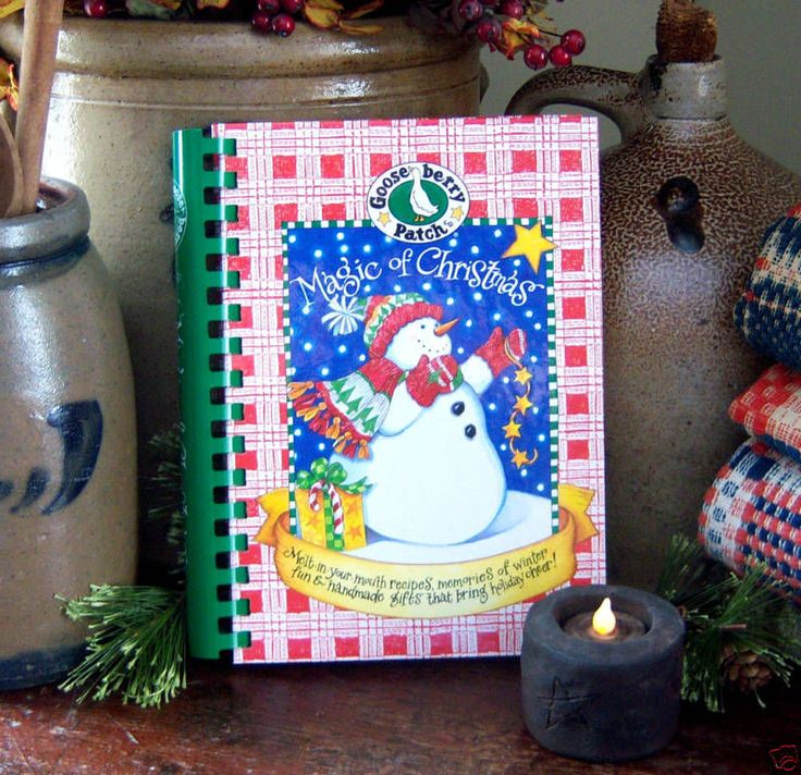 2001 Goose Berry Patch Magic of Christmas Cook Book