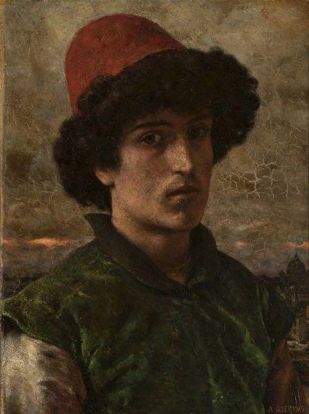 Portret młodego Włocha - Aleksander Gierymski