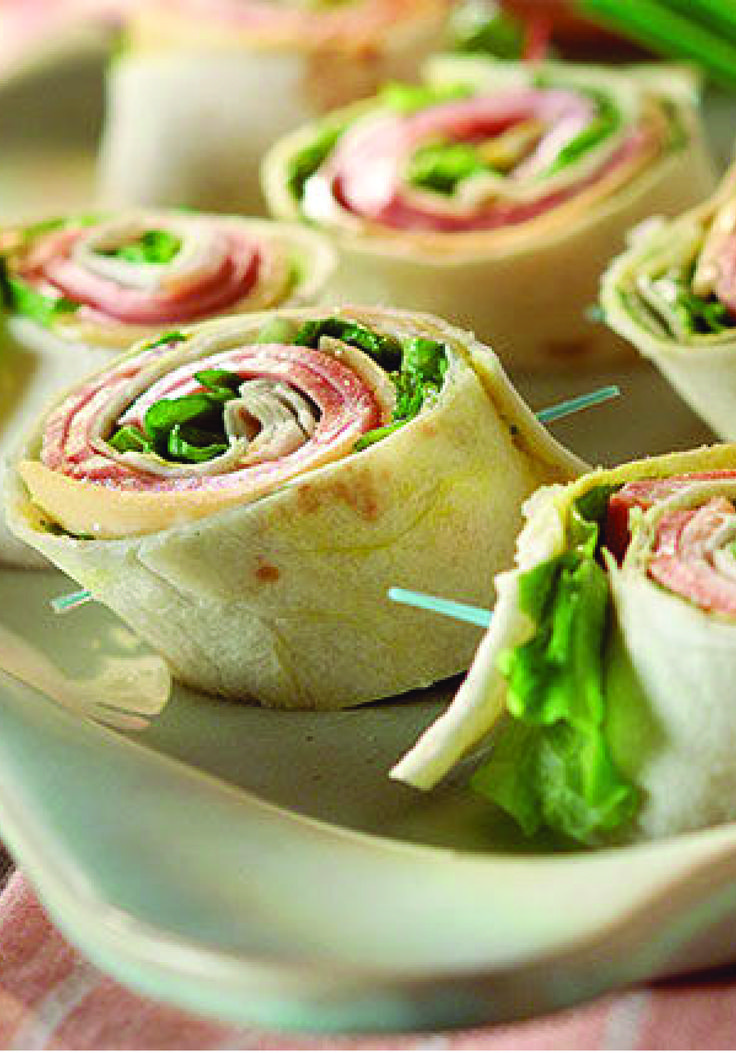Pinwheel Mini Sandwiches – We've put a new spin on party sandwiches. Roll up your meat and cheese faves for party-perfect pinwheels that are as much fun to make as they are to eat!