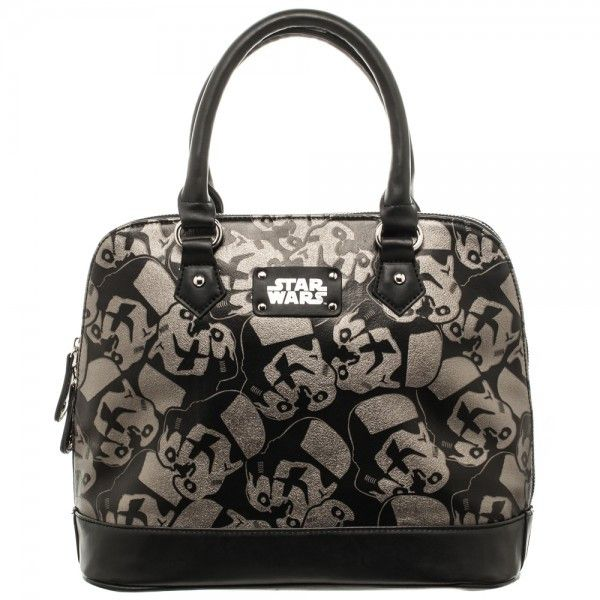 Star Wars Stormtrooper Dome Satchel Purse with Metal Charm