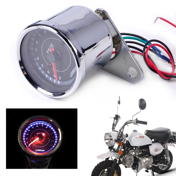 sale dwcx 60mm led 13000 rpm motorcycle tachometer scooter analog tacho meter gauge for harley honda yamaha #yamaha #atv