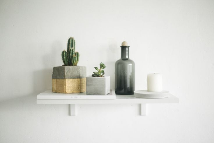DIY Concrete Flower Pots // Simple + Beyond