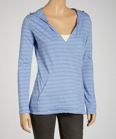 Take a look at this Iris Stripe Organic Surplice Hoodie by Blue Canoe on #zulily today!