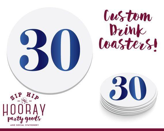 1895 Custom Coasters Birthday Coaster Any Year 40th Birthday 21st Birthday 60th Birthday Party Coasters 50th Birthday 30th Birthday