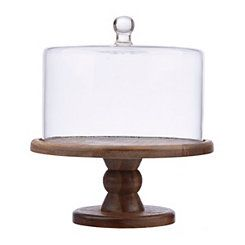 Madera Cake Plate with Dome