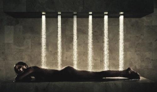The Horizontal Shower: Shower Bathroom, Company Dornbracht, Shower Att, Dornbracht Horizontal, Luxury Bath, Horizontal Shower 1, German Luxury, Le Bathroom, Interiors Designnow