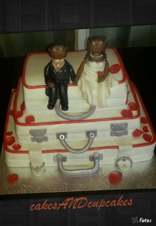 Wedding Suitcase Cake
