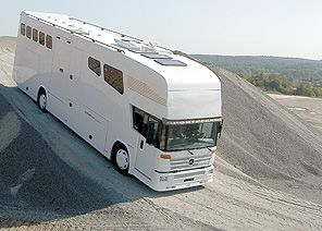 Integrated cab on this horsebox