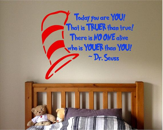 Vinyl Dr. Suess Quote Dr. Suess Kids Room by AVinylTouchOfClass