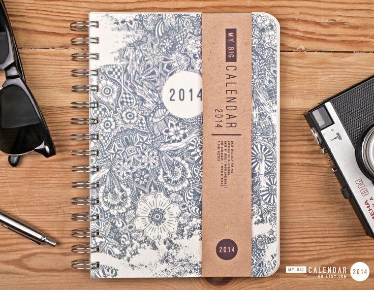 2014 weekly planner / diary / organizer / www.etsy.com/shop/TheBigCalendar / notebook