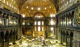 Intérieur de Sainte Sophie à Istanbul