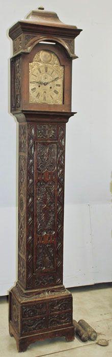 Antique English Regency Long Case Clock | Antique Grandfather Clocks | Inessa Stewart's Antiques