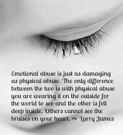 childhood physical and verbal abuse emotional It is child abuse and needs to be these behaviors whether verbal or non-verbal, cause a child to be mentally manipulated or bullied into believing a loving parent is the and can rob the child of their sense of security and safety leading to maladaptive emotional or psychiatric.