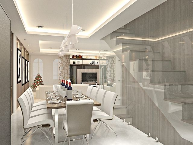 Modern Luxury Dining Room Design by John