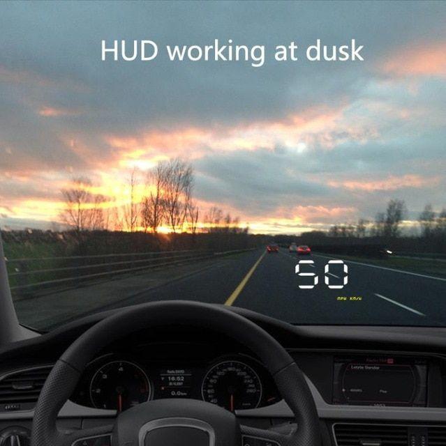 Car Auto OBD2 A1000 HUD Head Up Display Digital Speedometer Speed Warning