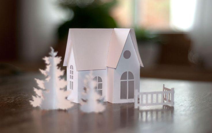 Diy winterlandschaft aus papier deko kitchen christmas - Winterlandschaft deko ...