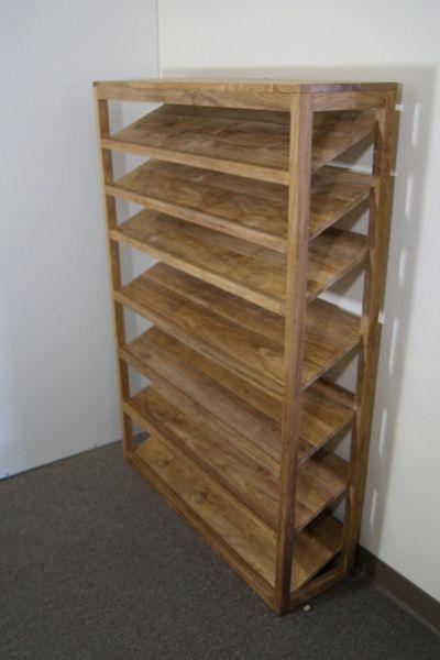 Teak Shoe Rack - make from pallet wood?