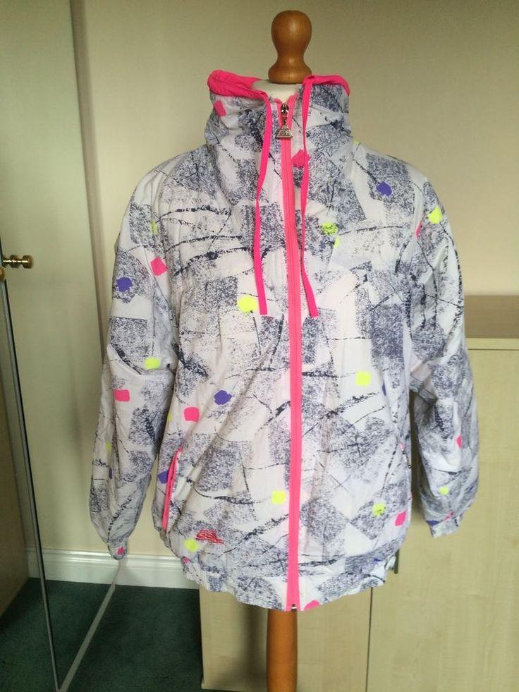 Woman's Retro Multi Coloured Ski Jacket Size Medium in Sporting Goods, Skiing & Snowboarding, Clothing, Hats & Gloves   eBay