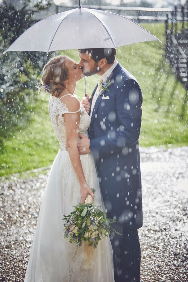 Rainy wedding umbrella portrait - works for me every time, especially when the sun suddenly pees behind the clouds! Haselbury mill last Summer with the wonderful Dominique and Ollie.  #haselburymill #rainyweddingday #weddingumbrella #rainyportrait #somersetwedding