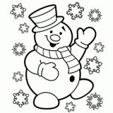 Free Christmas &  Winter coloring pages.