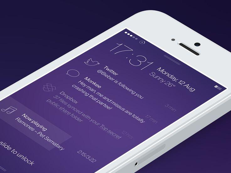 iOS7 Lock Screen by Unity