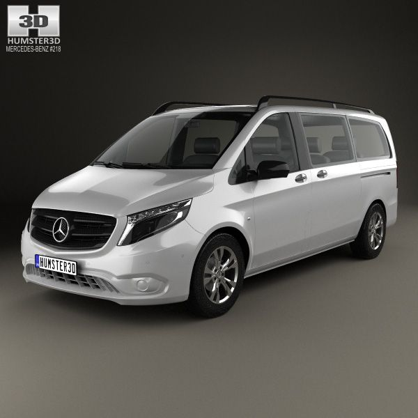 Mercedes-Benz Vito Tourer Select L2 (W447) 2014 3d model from humster3d.com