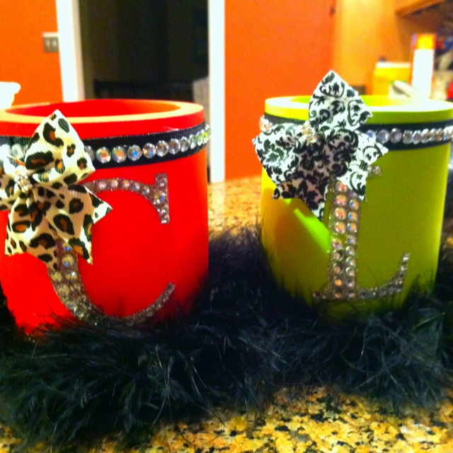 DIY coozies :)... thinking of making these for my fam for big little 2012 :)