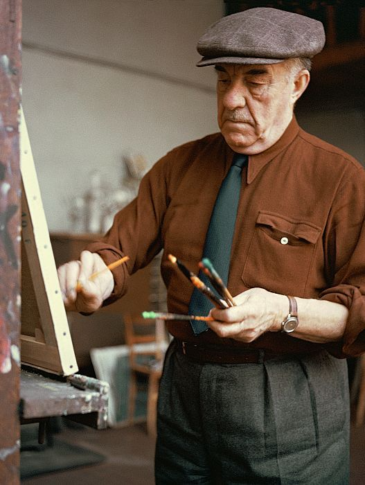 Fernand Léger in his studio (1965).  French Painter.  www.ernst-scheidegger-archiv.org