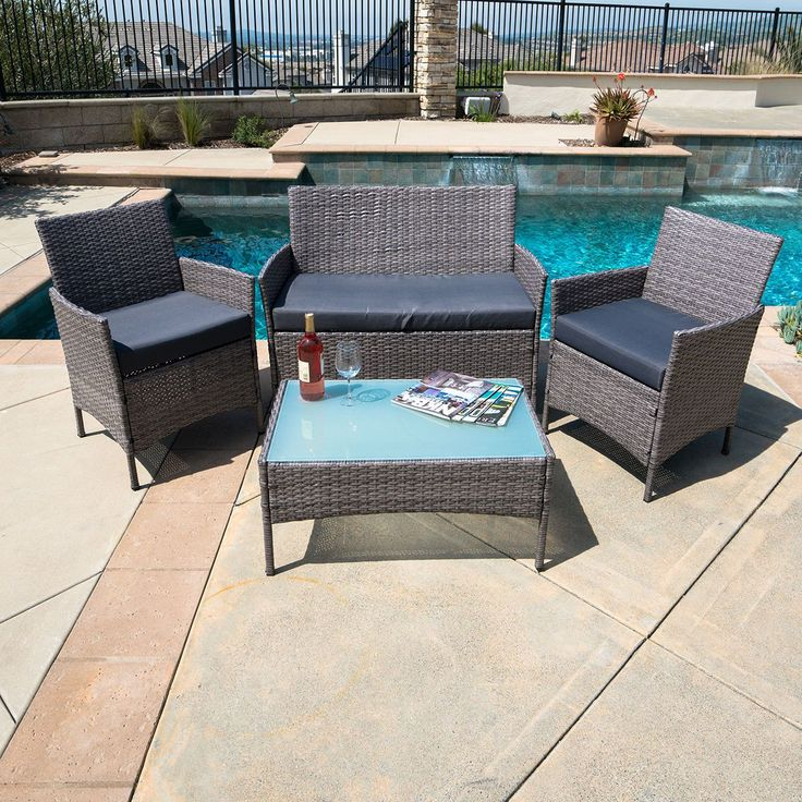 Nice pc Outdoor Rattan Wicker Patio Set Sectional Garden Lawn Cushion Furniture Sofa