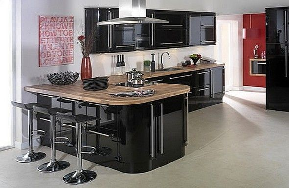 Neptune Black Gloss Kitchen | Better Kitchens